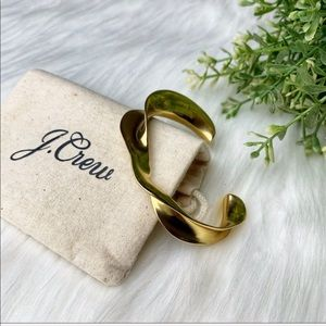 J. Crew | Metal Twist Cuff Bracelet Brushed Gold